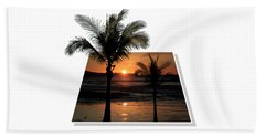 Palm Trees At Sunset Bath Towel