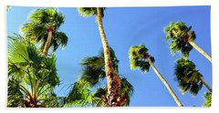 Palm Trees Looking Up Bath Towel
