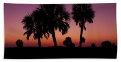 Hand Towel featuring the photograph Palm Trees Silhouette by Joel Witmeyer