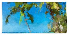 Palms Beach Abstract  Bath Towel by Anthony Fishburne