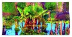 Palms In Estuary Hand Towel