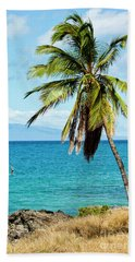Hand Towel featuring the photograph Palms On Hawaiian Beach 12 by Micah May