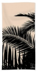Palms On Pale Pink Bath Towel