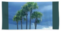 Palmy Skies Hand Towel by Rachel Hannah