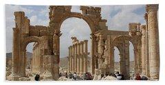 Palmyra Before...triumphal Arch Bath Towel