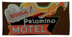 Bath Towel featuring the photograph Palomino Motel by Jeff Burgess