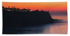 Palos Verdes Coast After Sunset Hand Towel