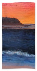 Bath Towel featuring the painting Palos Verdes Sunset by Jamie Frier