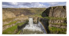 Hand Towel featuring the photograph Palouse Falls by Albert Seger