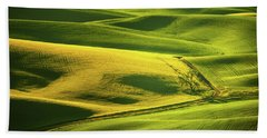 Palouse Shades Of Green Bath Towel by Dan Mihai