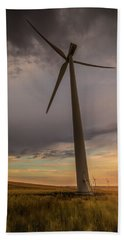 Hand Towel featuring the photograph Palouse Windmill At Sunrise by Chris McKenna