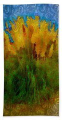 Hand Towel featuring the photograph Pampas Grass by Iowan Stone-Flowers