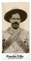Pancho Villa Hand Towel by Antonio Romero