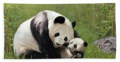 Panda Bears Hand Towel