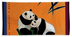 Panda Friends Bath Towel