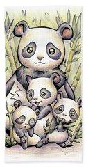 Endangered Animal Giant Panda Hand Towel