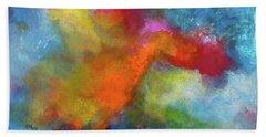 Pangaea World Painting. Hand Towel