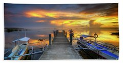 Bath Towel featuring the photograph Panglao Port Sunset 8.0 by Yhun Suarez