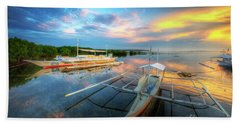 Bath Towel featuring the photograph Panglao Port Sunset 9.0 by Yhun Suarez