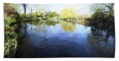 Panorama 2 Of Monets Garden In Giverny Bath Towel