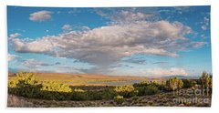 Panorama Of Cloud Formation Over Cochiti Lake - Rio Grande Valley New Mexico Hand Towel