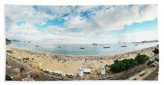 Panorama Of Copacabana, Rio De Janeiro, Brazil  Hand Towel