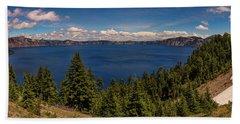 Panorama Of Crater Lake Hand Towel