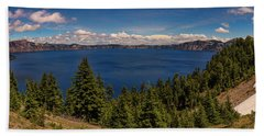 Panorama Of Crater Lake Bath Towel