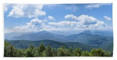 Panorama Of The Foothills Of The Pyrenees In Biert Bath Towel by Semmick Photo