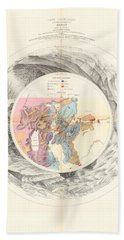 Panoramic Map Of Washoe, Nevada - Carte Panoramique - Historic Map - Old Atlas - Geological Chart Bath Towel