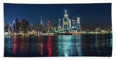 Panoramic Skyline-manhattan Hand Towel