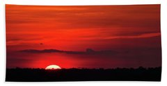 Panoramic Sunset Bath Towel