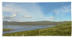 Panoramic View Of Loch Eriboll Bath Towel