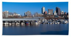 Panoramic View Of Memphis, Tn Skyline Hand Towel