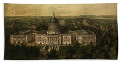 Panoramic View Of Washington City From The New Dome Of The Capitol, Looking East Hand Towel