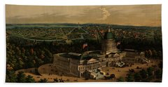 Panoramic View Of Washington City From The New Dome Of The Capitol, Looking West Hand Towel