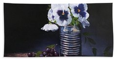 Pansies In A Can Hand Towel