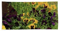 Hand Towel featuring the photograph Pansies by Kim Henderson