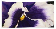Pansy Face Bath Towel