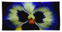 Pansy Face Hand Towel by Smilin Eyes  Treasures