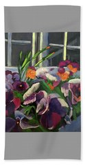 Pansy Frenzy Bath Towel