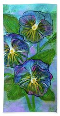 Pansy On Water Bath Towel