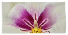 Pansy Orchid Bath Towel