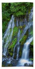 Panther Creek Falls Summer Waterfall 1 Hand Towel