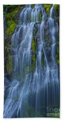 Panther Creek Falls Summer Waterfall -close 2 Hand Towel
