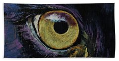 Panther Eye Hand Towel by Michael Creese