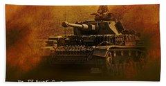 Hand Towel featuring the digital art Panzer 4 Ausf G by John Wills