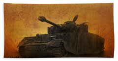 Bath Towel featuring the digital art Panzer 4 Ausf H by John Wills