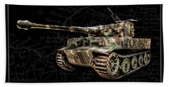 Panzer Tiger I Side Bk Bg Hand Towel