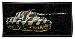 Panzer Tiger II Side Bk Bg Bath Towel